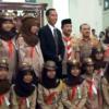 Pak Jokowi Melepas Kontingen Pramuka