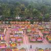 Karangan Bunga untuk Ahok-Djarot Makin Membanjiri Balai Kota Hari Ini