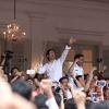 Aksi menyanyi untuk Ahok di Balai Kota dipimpin Addie MS
