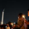 Lilin dan Harapan untuk Ahok di Tugu Proklamasi